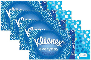 Kleenex Everyday Pocket Packs Facial Tissues (32 Packs of 9 Tissues) Total 288 Tissues