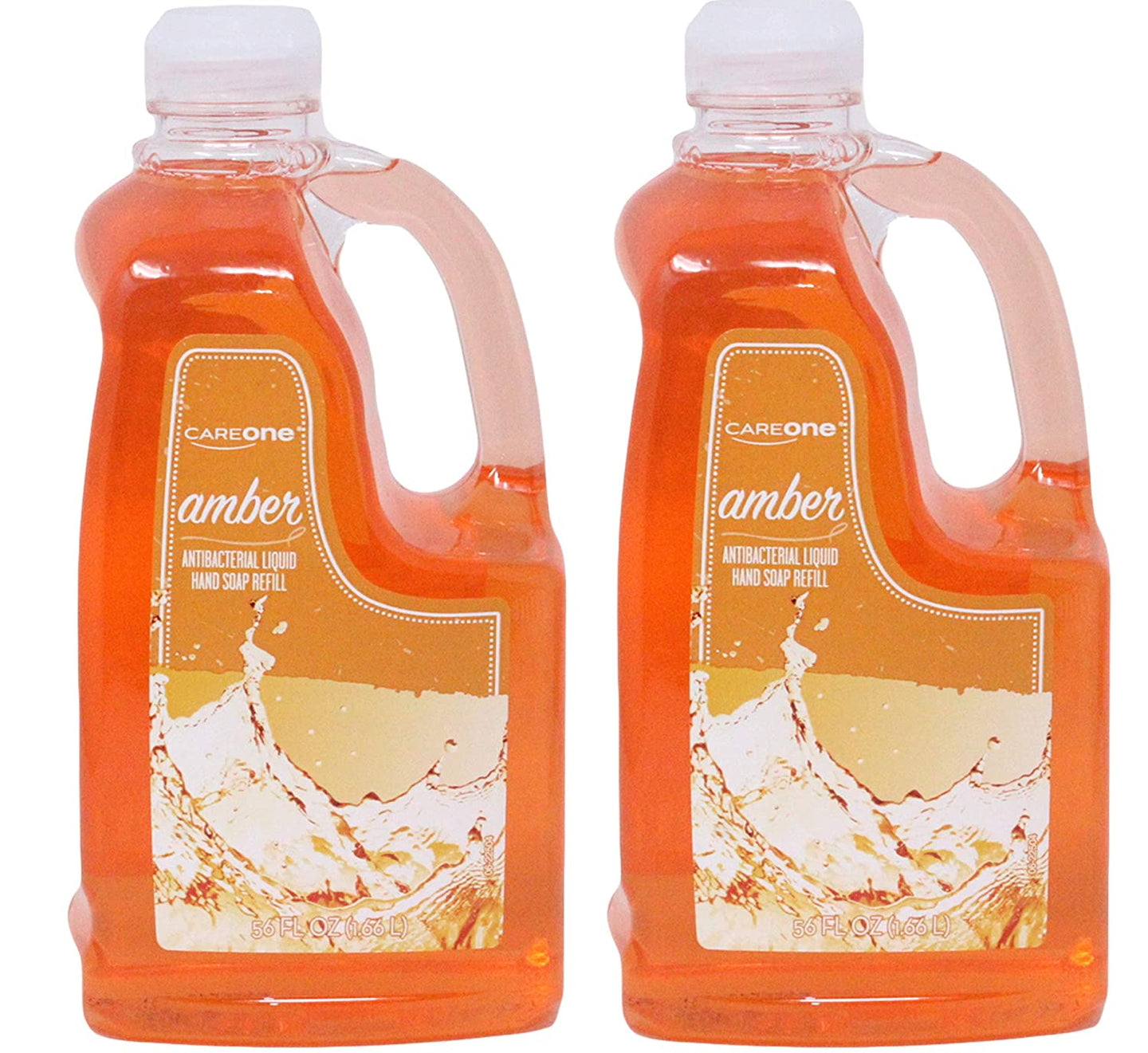 Amber Care One Antibacterial Liquid Hand Soap Refill, 56 Ounces (Pack of 2)