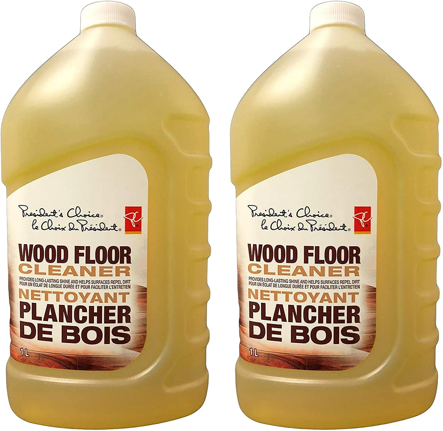 Presidents Choice Wood Floor Cleaner, 1 Liter (Pack of 2)