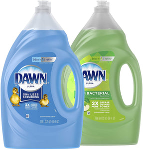 Dawn Ultra Dishwashing Liquid Dish Soap Original Scent & Ultra Antibacterial Hand Soap, Dishwashing Liquid Dish Soap Apple Blossom 56 fl oz, 2ct (Packaging May Vary)