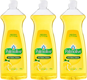 Palmolive Antibacterial Dishwashing Liquid Lemon Scent, Fights Germs, 25.3 Ounces (Pack of 3)