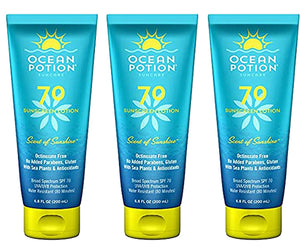 Ocean Potion SPF 70 Sunscreen Lotion, 6.8 Ounce (Pack of 3)