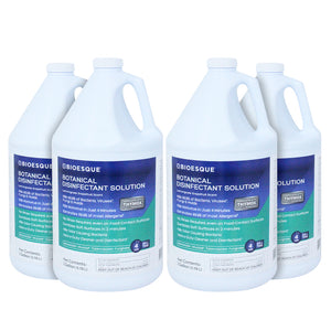 Bioesque Botanical Disinfectant Solution, Lemongrass Grapefruit Scent, 1 Gallon (Pack  of 4)