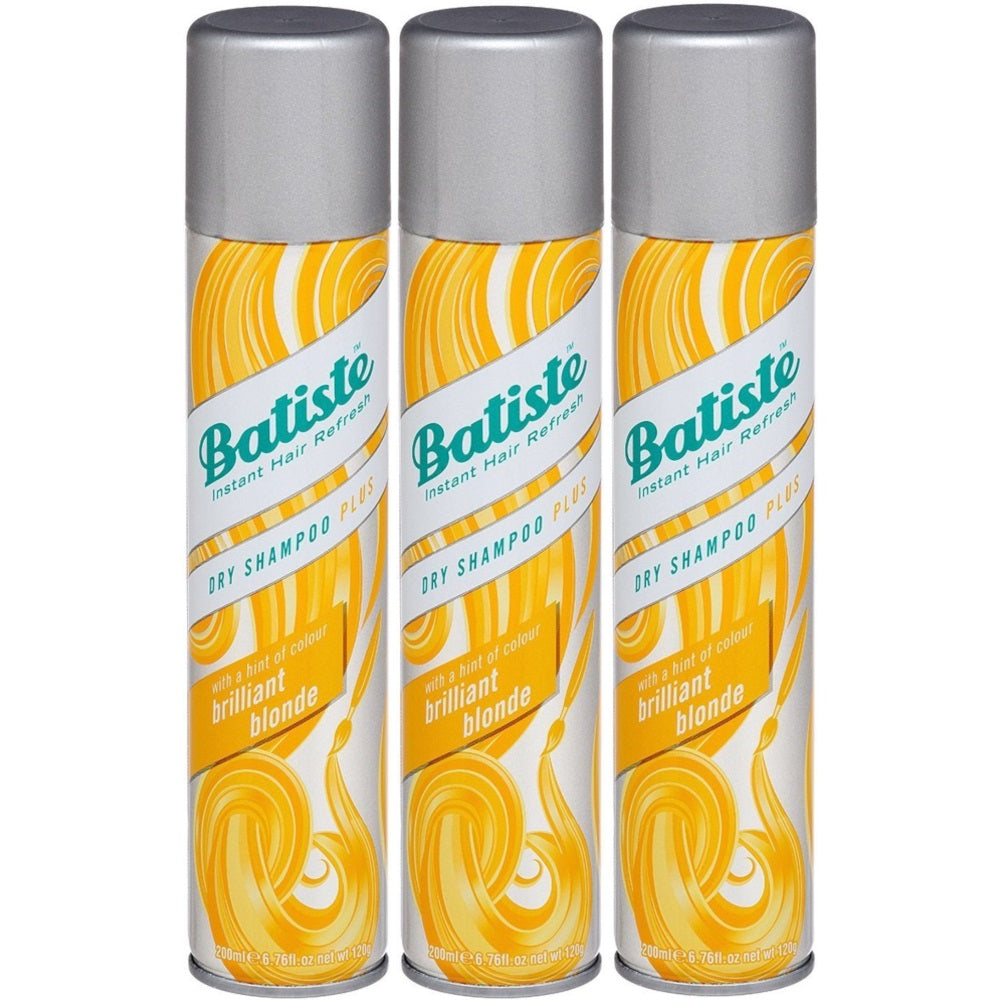 Batiste Instant Hair Refresh Dry Shampoo Plus, Brilliant Blonde, 6.73 Ounce (Pack of 3)