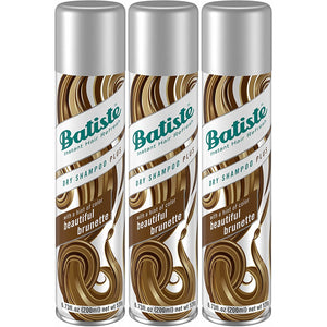 Batiste Instant Hair Refresh Dry Shampoo, Hint of Color Beautiful Brunette, 6.73 Ounce (Pack of 3)