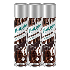 Batiste Instant Hair Refresh Dry Shampoo Plus, Divine Dark, 6.73 Ounce (Pack of 3)