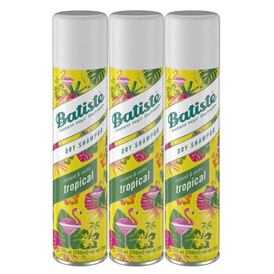 Batiste Instant Hair Refresh Dry Shampoo, Coconut & Exotic Tropical, 6.73 Ounce (Pack of 3)