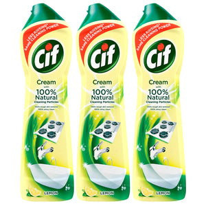 Cif Professional Cream Cleaner, With Micro Crystals, Lemon Scent, 500 ML