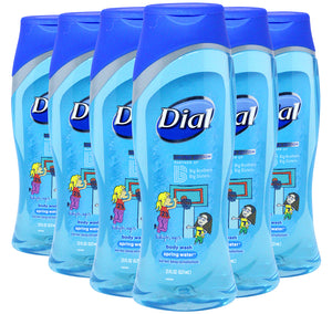 Dial Limited Edition Big Brothers Big Sisters Spring Water Body Wash, 21 Ounce, Pack of 6