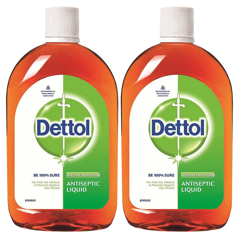 Dettol Antiseptic Disinfectant Liquid 33.8 Ounce (1000 ml) Germ Protection Disinfectant For First Aid, Home and Personal Hygiene (Pack of 2)