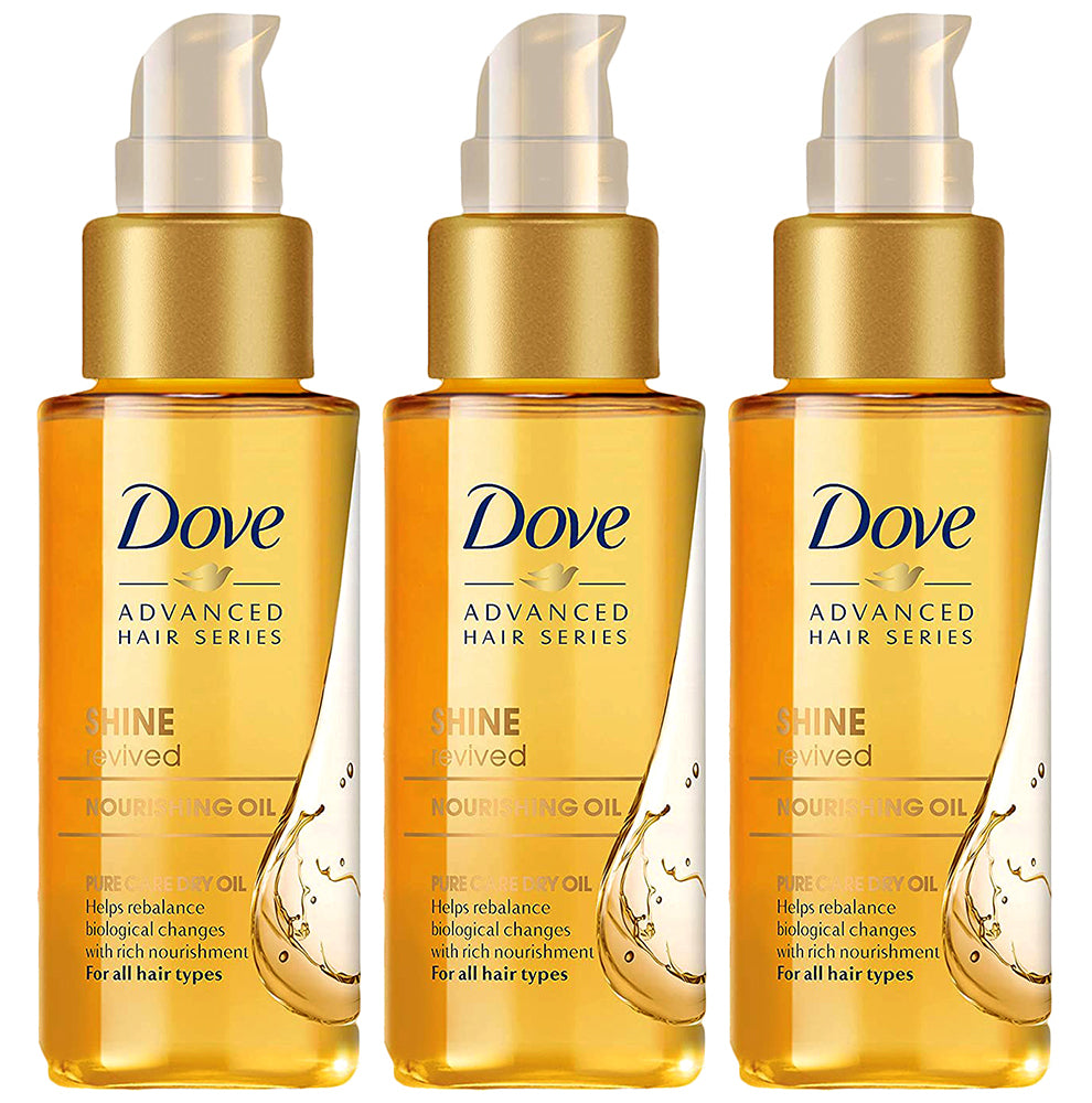 Dove Advanced Hair Series, Shine Revived Treatment For A Smooth And Shiny Professional Look For Men And Women Of All Hair Types And Colors, 1.7 Ounce (Pack of 3)