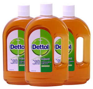 Dettol Original First Aid Antiseptic Liquid 25.35 oz (Pack of 3)