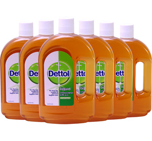 Dettol Original First Aid Antiseptic Liquid 25.35 oz (Pack of 6)