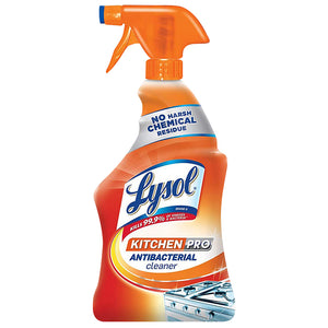 Lysol Kitchen Pro Antibacterial Cleaner Trigger, Orange , 22 oz