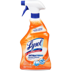 Lysol Antibacterial Kitchen Cleaner Trigger Spray, Citrus Scent, 22 Ounce Pack of 1