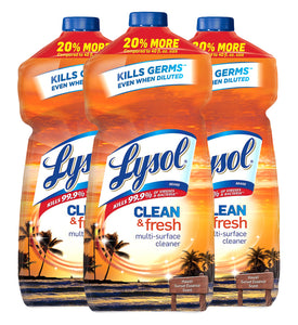Lysol Clean & Fresh, American Fragrance Collection, 48 Ounce Pack of 3