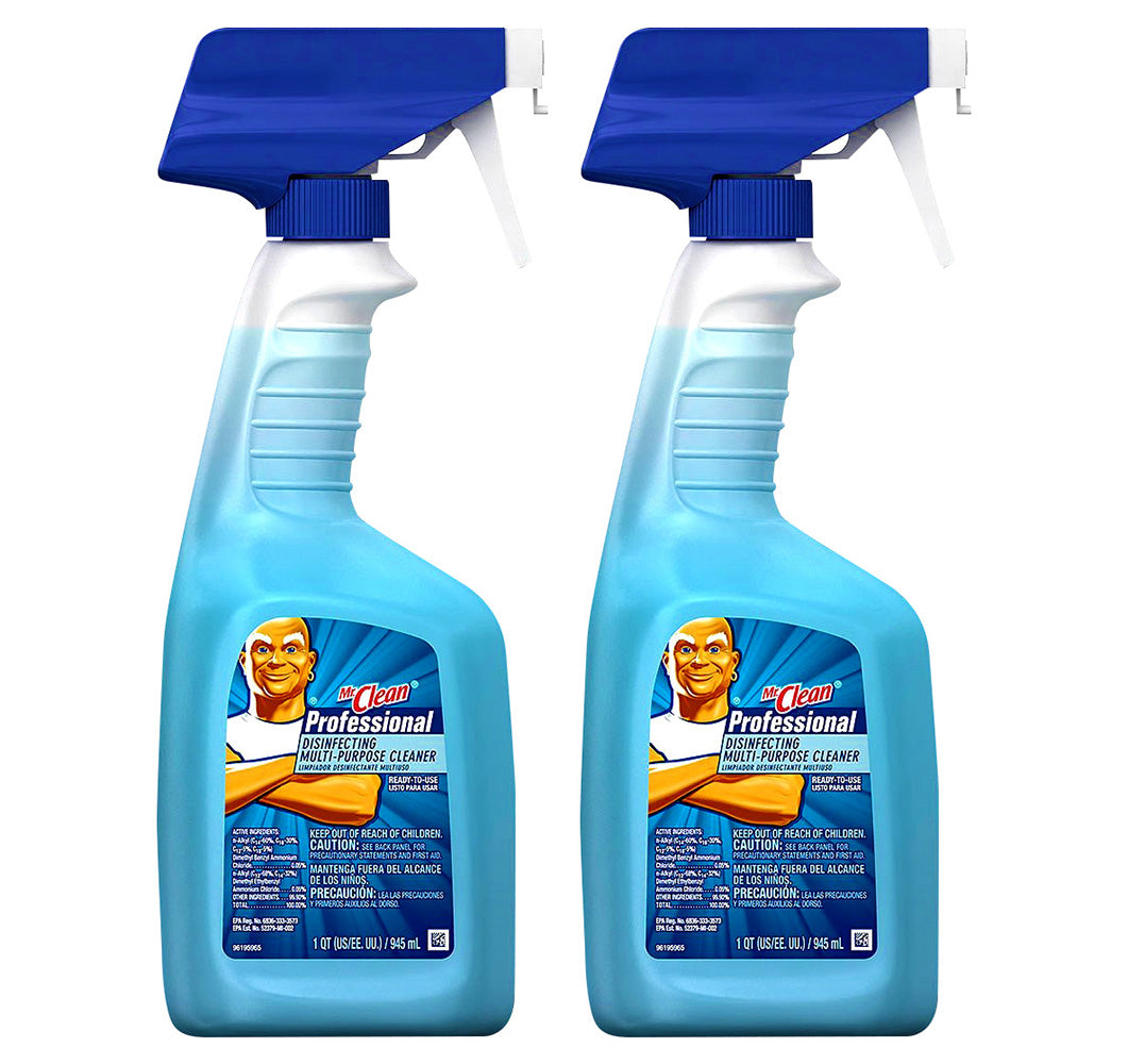 Mr. Clean Professional Disinfecting Multi-Purpose Cleaner for Counters, Sinks and Bathrooms in Hotels, Restaurants and Businesses 32 Fl. Oz (Pack Of 2)