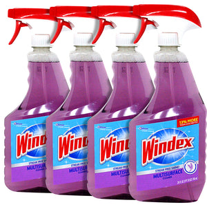 Windex Glass Cleaner, Multi Surface Use, Lavender Scent 26 Fl Ounce (Pack of 4)
