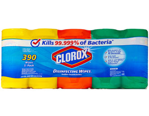 Clorox Disinfecting Wipes, Variety Pack, 78 Count Each (Pack of 5)
