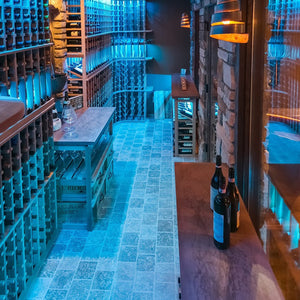 Custom wine cellar multi color lighting system