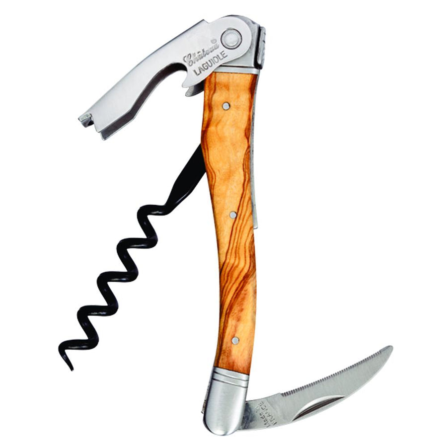 Chateau Laguiole™ Olive Wood Waiter's Corkscrew-Corkscrews-Franmara-VinGrotto Wine Cellar Construction Company