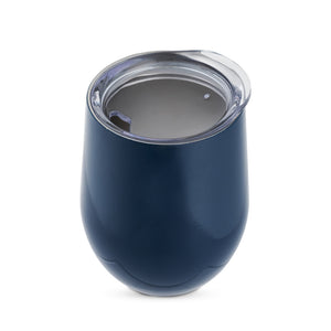 Sip & Go Stemless Wine Tumbler-Drinkware-TrueBrands-Navy Blue-VinGrotto Wine Cellar Construction Company