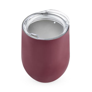Sip & Go Stemless Wine Tumbler-Drinkware-TrueBrands-Burgundy-VinGrotto Wine Cellar Construction Company