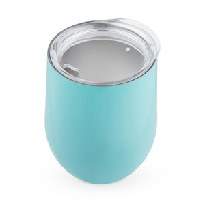Sip & Go Stemless Wine Tumbler-Drinkware-TrueBrands-Turquoise-VinGrotto Wine Cellar Construction Company
