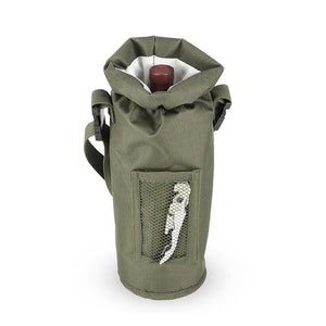 Grab & Go™ Insulated Bottle Carrier-Accessories-TrueBrands-Olive-VinGrotto Wine Cellar Construction Company