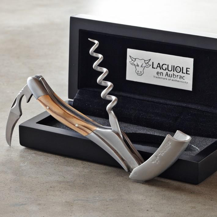 Laguiole Corkscrew En Aubrac Olivewood Handle Waiters