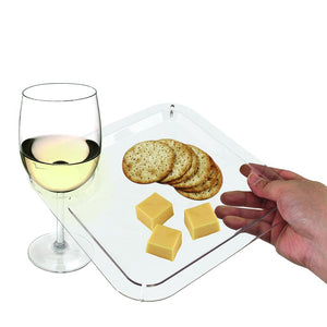 Clear Appetizer Cocktail Plates Disposable