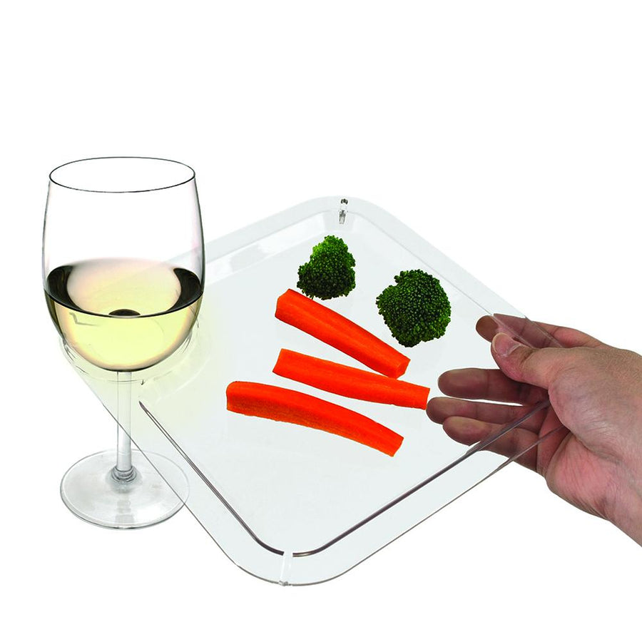 Clear Appetizer Cocktail Plates-Accessories-TrueBrands-VinGrotto Wine Cellar Construction Company