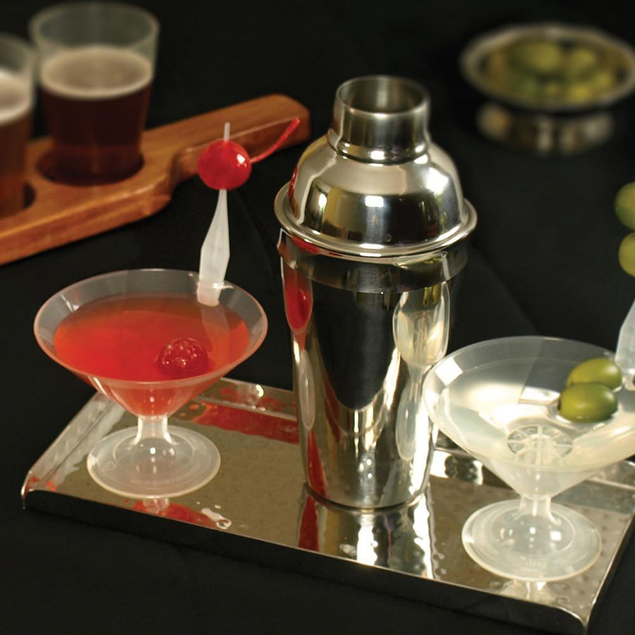 140 Compostable 4 oz Martini Cups with Garnish Hangers-Drinkware-SelfEco-VinGrotto Wine Cellar Construction Company