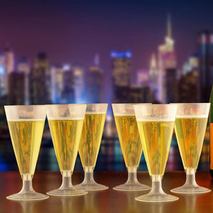 420 Compostable Champagne Flutes-Drinkware-SelfEco-VinGrotto Wine Cellar Construction Company