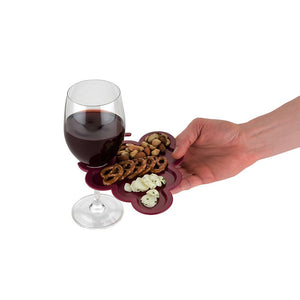 Party Plate With Glass Can Cup Holder