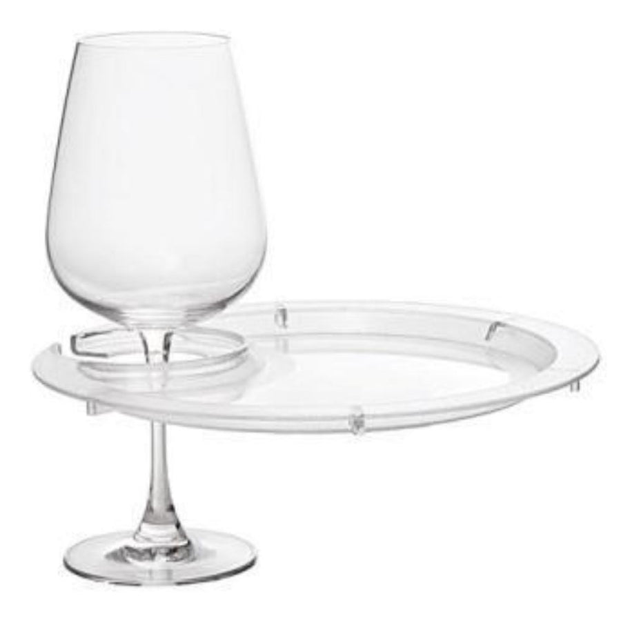 Round Party Plates With Built-In Stemware Holder-Accessories-Franmara-VinGrotto Wine Cellar Construction Company