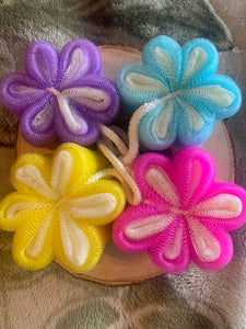 Mesh Bath  Exfoliation Flower Sponge