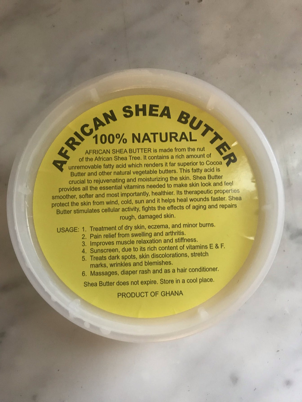 MiaFabs Unrefined African Shea Butter (Ivory)- 8 Oz tub