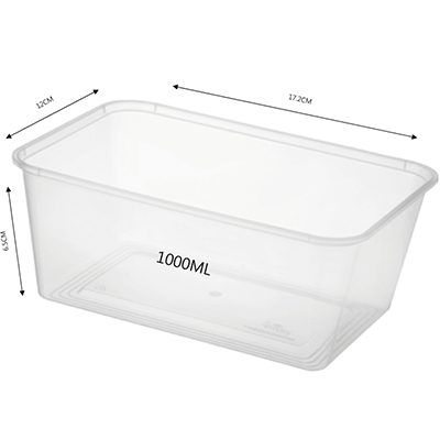 CONTAINER RECTANGULAR 1000ML 500PCS - JP Supplies