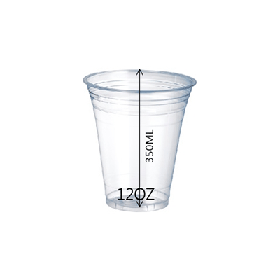 CUP PET 12OZ 92MM 1000PCS OZ - JP Supplies