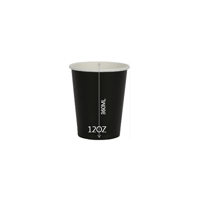 CUP PAPER 12OZ BLACK 1000PCS PERFECT - JP Supplies