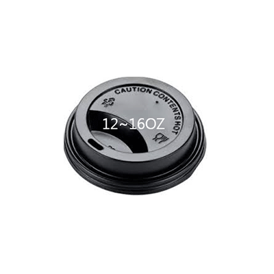 CUP PAPER LID 12/16OZ BLACK 1000PCS PERFECT - JP Supplies