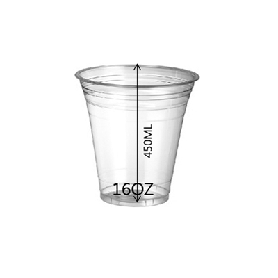 CUP PET 16OZ 98MM 1000PCS OZ - JP Supplies