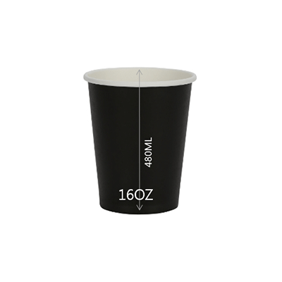CUP PAPER 16OZ BLACK 1000PCS PERFECT - JP Supplies