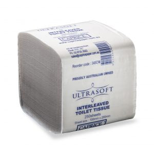 INTERLEAVED TOILET TISSUE 2PLY 250SHEET ULTRASOFT - JP Supplies