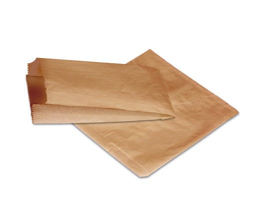PAPER BAG 2W BROWN 500PCS PAC - JP Supplies
