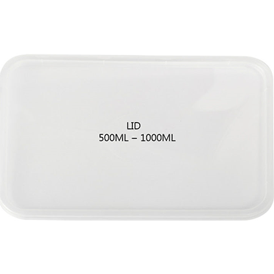 CONTAINER RECTANGULAR LID 500PCS - JP Supplies