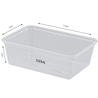 CONTAINER RECTANGULAR 500ML 500PCS - JP Supplies