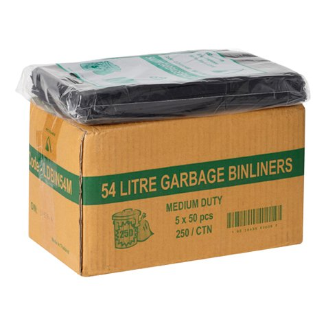 54L BLACK PREMIUM250PCS - JP Supplies