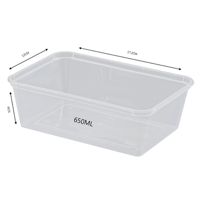 CONTAINER RECTANGULAR 650ML 500PCS - JP Supplies
